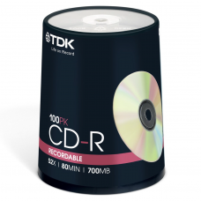 TDK CD-R 700 MB Cake ( 100 τεμ )